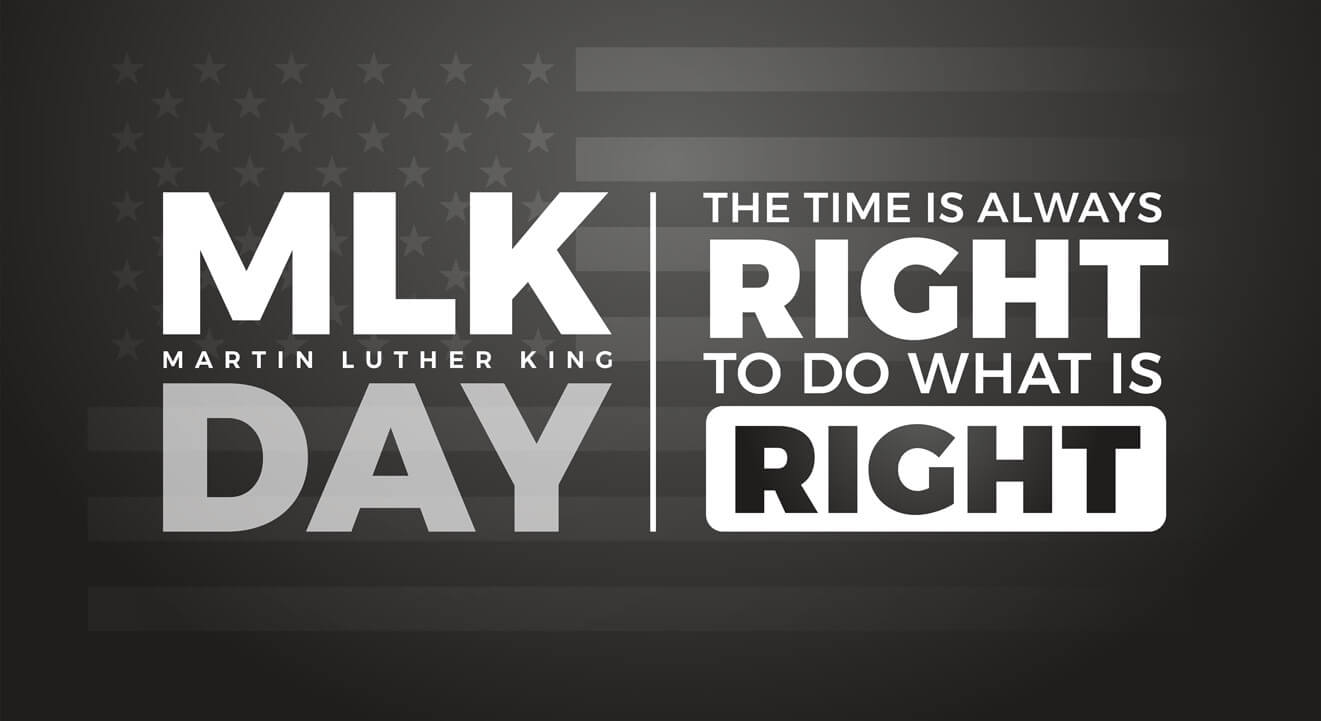 MLK Jr The time is always right to do what is right